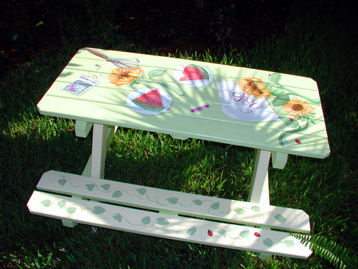 1000 Images About Picnic Table Paint Ideas On Pinterest