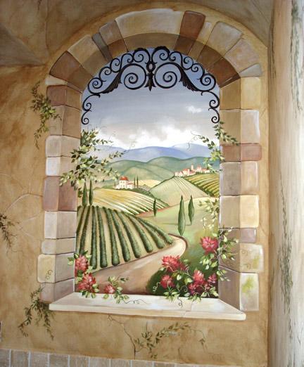pics photos tuscan wall mural